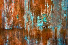 Emerging colors.. Rust and turquoise texture for layer by Abby Lanes