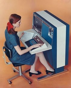 Computing, 1967 style.  Memories are made of this at http://www.saveeverystep.com #nostalgia
