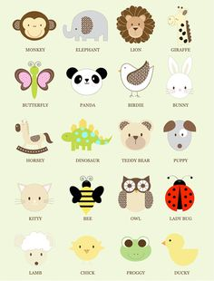 click to see baby animal designs