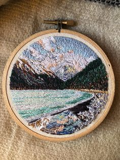 Nr. 5 Altai Hand Embroidery art piece Embroidery hoop art