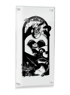 Ursula Sea Witch Little Mermaid silhouette hand cut paper