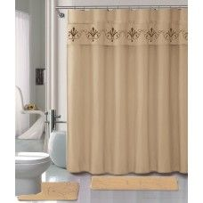 #LuxuryCrownBeige Memory Foam #BathroomMatShowerCurtain Chrome Hooks Set. Laminate Flooring, Window Coverings, Window Curtains, Memory Foam, Hooks, Chrome, Windows, Beige, Luxury