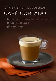 Let Nespresso make your morning run a little smoother with this easy Cafè Cortado recipe. This Spanish drink is elegant in its simplicity and only requires two ingredients. Pair with your favorite pastry or breakfast sandwich for a morning coffee routine that will never get old.