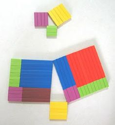 Pythagorean Theorem with Cuisenaire Rods   (I personally don't understand it, but my son-in-law would love it) Algebra Activities, Math Manipulatives, Montessori, Teaching Geometry, Teaching Math, Kindergarten Math, Elementary Math, Math For Kids, Fun Math