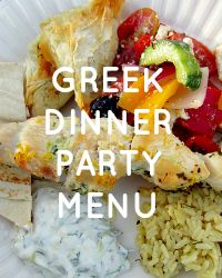 Greek Dinner Party Menu | Get the recipes for delicious souvlaki with tzatziki sauce and feta rice at clubnarwhal.blogspot.com. #greekrecipes #greekyogurt