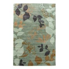 KAS Rugs�Elegant Transitions Rectangular Blue Floral Area Rug (Common: 5-ft x 8-ft; Actual: 5-ft x 8-ft)