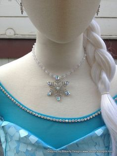 Elsa Snowflake AB Winter Wedding Necklace  Earring by Bbeauty79, $49.95