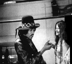 Jimi Hendrix and Janis Joplin