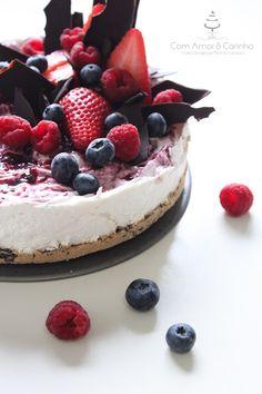 Sweet Patrícia: Feliz Dia do Pai - Cheesecake de Chocolate e Frutos Vermelhos