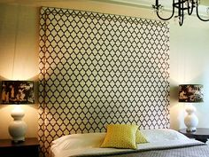 upholstered headboard - had something like this in our hotel in downtown austin... so elegant and gorgeous!