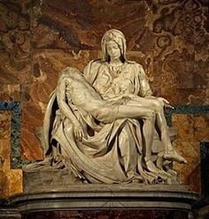 The Pietà (1498–1499) is a work of Renaissance sculpture by Michelangelo Buonarroti, housed in St. Peter's Basilica, Vatican City.