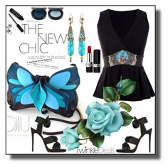 Butterfly bag by nelly-melachrinos on Polyvore featuring polyvore, Jimmy Choo, Christian Dior, Bobbi Brown Cosmetics, fashion, style and clothing