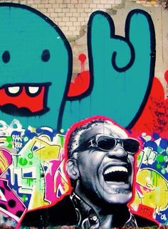 Ray Charles, street art, pop art.