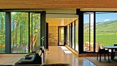 Tennican Residence- looking outward by Ward + Blake Architects, Jackson, WY