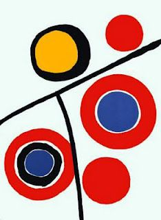 """Alexander Calder. In 1930, Calder visited the studio of Piet Mondrian in Paris and was deeply impressed by a wall of colored paper rectangles that Mondrian continually repositioned for compositional experiments. He recalled later in life that this experience """"shocked"""" him toward total abstraction. For three weeks following this visit, he created solely abstract paintings, only to discover that he did indeed prefer sculpture to painting"""