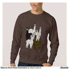 Alpacas Rock Male Sweatshirt