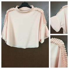 Last few pieces remaining: Elegant - Caped a..., visit http://ftfy.bargains/products/elegant-caped-and-ruffled-peach-top?utm_campaign=social_autopilot&utm_source=pin&utm_medium=pin  #amazing #affordable #fashion #stylish