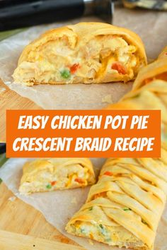 Chicken Pot Pie Crescent Braid This delicious and easy dinner is the perfect solution on a busy weeknight. So fast and. Cheese Dip Recipes, Fish Recipes, Chicken Recipes, Cornish Hen Recipe, Cresent Rolls, Easy Chicken Pot Pie, Crescent Roll Recipes, Perfect Steak, Easy Eat