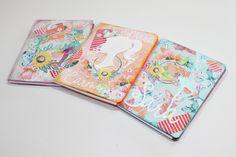3 ideas para decorar portadas de diarios y cuadernos personalizados (vídeo tutorial en YouTube) Videos, Cinderella, Mixed Media, Notebook, Scrapbooking, Youtube, Paper, Custom Notebooks, Step By Step