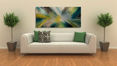 Colored Wall art deco abstract oil painting. by KammyWallJewels