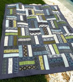 Helens retirement quilt Finely Finished Quilts | Quilting-Modern ... : masculine quilt - Adamdwight.com