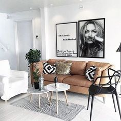 Good Look of Scandinavian Living Room Design for Best Home Decoration ⋆ Main Dekor Network Home Living Room, Apartment Living, Living Room Designs, Living Room Decor, Tan Sofa Living Room Ideas, Dream Decor, Living Room Inspiration, Interior Inspiration, Home Fashion
