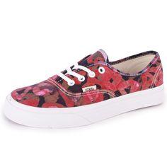 Vans Della Authentic Womens Canvas Trainers Multicolour New Shoes All Sizes