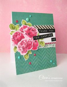 Paper Crafts & Scrapbooking Magazine Special Thanks Blog Hop | Clare's creations