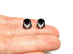 Lil' Penguins Post Earrings by kteediid on Etsy, $8.50