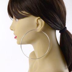 Giant Sterling Silver Hoop Earrings | Silver earrings | The Russian Store