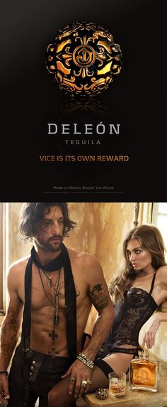 Vice is its own reward. Deleon Tequila, Gin Joint, Rum, Liquor, Advertising, Alcohol, Art Direction, Packaging Design, Sexy