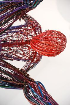 Playfully Energetic Figures Constructed With Colorful Wire - My Modern Met