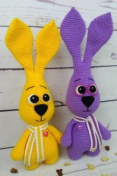 FREE crochet bunny pattern Let's crochet a purple bunny amigurumi! With this free crochet pattern by Iriss you will get a bunny about 40 cm Crochet Sheep, Crochet Bunny Pattern, Crochet Rabbit, Easter Crochet, Crochet Patterns Amigurumi, Crochet Dolls, Free Crochet, Free Knitting, Amigurumi Toys