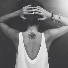 Yoga tattoos - lotus flower