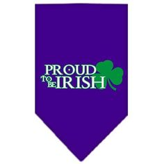 Proud to be Irish Screen Print Bandana Purple Large