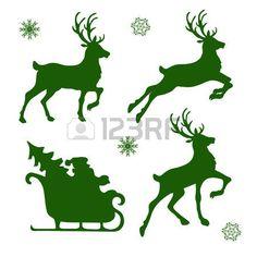 Resultado de imagen de siluetas navideñas para imprimir