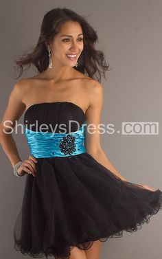 Enchanting Sleeveless Empire A-line Two-toned Short Tulle Gown