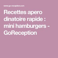 Quick appetizer recipes: mini burgers – GoReception Source by Mini Hamburgers, Quick Appetizers, Appetizer Recipes, Buffet Chic, Brunch, Actifry, Tapas, Sandwiches, Desserts