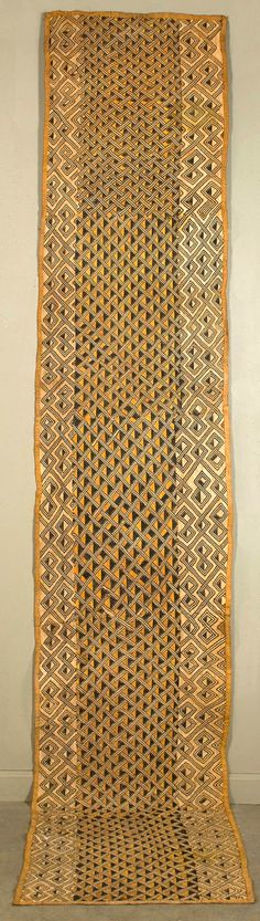 Africa | Ndengese Raffia Skirt from the Kuba people of DR Congo | Raffia flat stitching throughout.