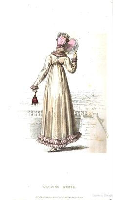 Walking Dress from from Ackermann's Repository of the Arts November 1819