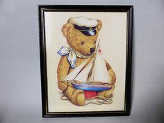 Vintage Brown Sailor Teddy Bear Nautical by EdenKitsch on Etsy