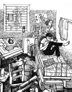 Galería de 42 croquis, dibujos y diagramas de espacios de trabajo de arquitectura - 5