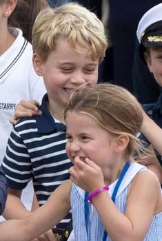 The Royal Children: British RF: Princes George and Princess Charlotte at the Kings Cup Kate Middleton, Middleton Family, Prince William Family, Prince William And Catherine, George Of Cambridge, Duchess Of Cambridge, Princesa Real, Princesa Diana, Royal Princess