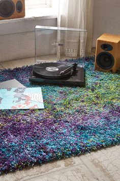 Peacock Shag Rug - Urban Outfitters