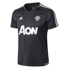 Camiseta de Entrenamiento Manchester United 2017 2018 Gris Oscuro 37da1a55c25ab