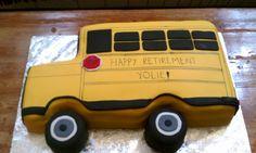 School Bus Retirement Cake