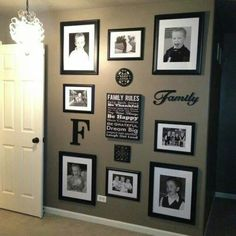 Floor to Ceiling family picture wall. I NEED to do this!