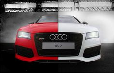 Which side are you on? #RS7 #Audi #white #red #4rings
