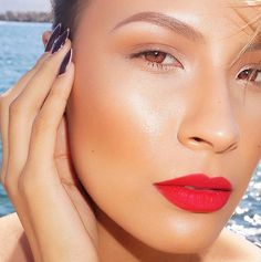△▽△ DESI PERKINS: ILovePacifica Ultra CC Cream Radiant Foundation | Mac 'Give Me Sun' bronzer | Lips - Dose of Colors 'Kiss of Fire'