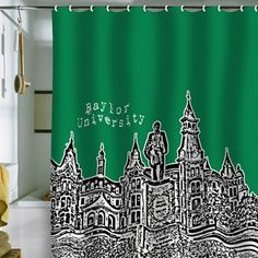 Baylor University - Old Main - shower curtain // #SicEm